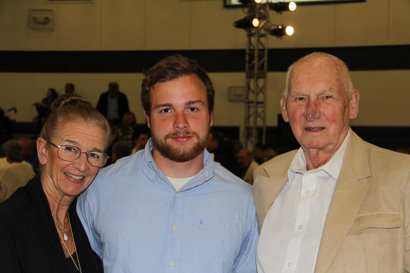 Caleb with his Grandparents