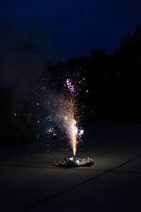The mini-driveway fireworks