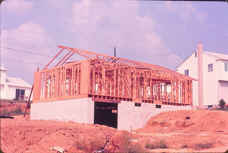 Mom and Dad's Claymont house being built in 1965
