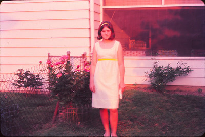 Marilyn ready for Freshman Prom--'66
