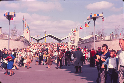 Crowded entrance