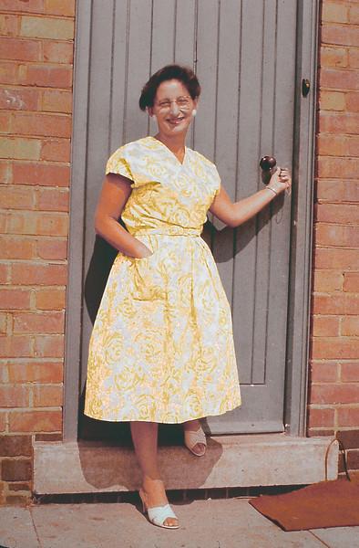 Friedl Baxter in Nottingham, England, Aug 1959
