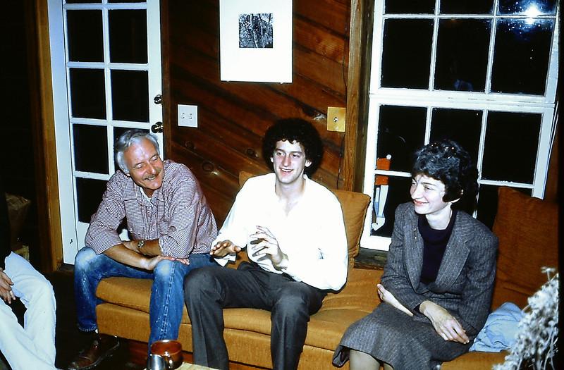 May 1981 in Bolinas. Harry Hartzel, Charlie and Marian Knox