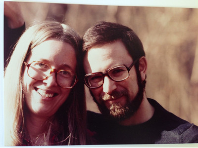David and Barbara hiking in the Shenandoahs