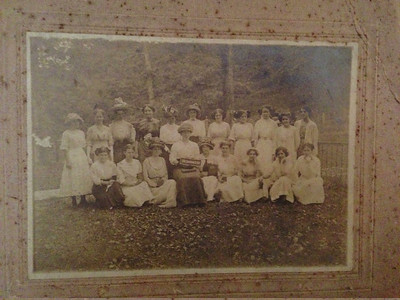 Sunday school class at Dutch Fork (Myrtle Miller second from left back row)