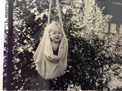 Barbara in Grandma Hattie's clothespin bag