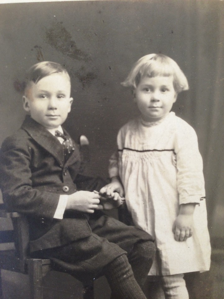 Lynne and brother Everett (5 and 8)