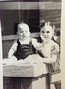 David as baby with Sandy
