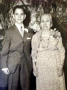 David and Grandma Fanny Diskin, David's Bar Mitzvah