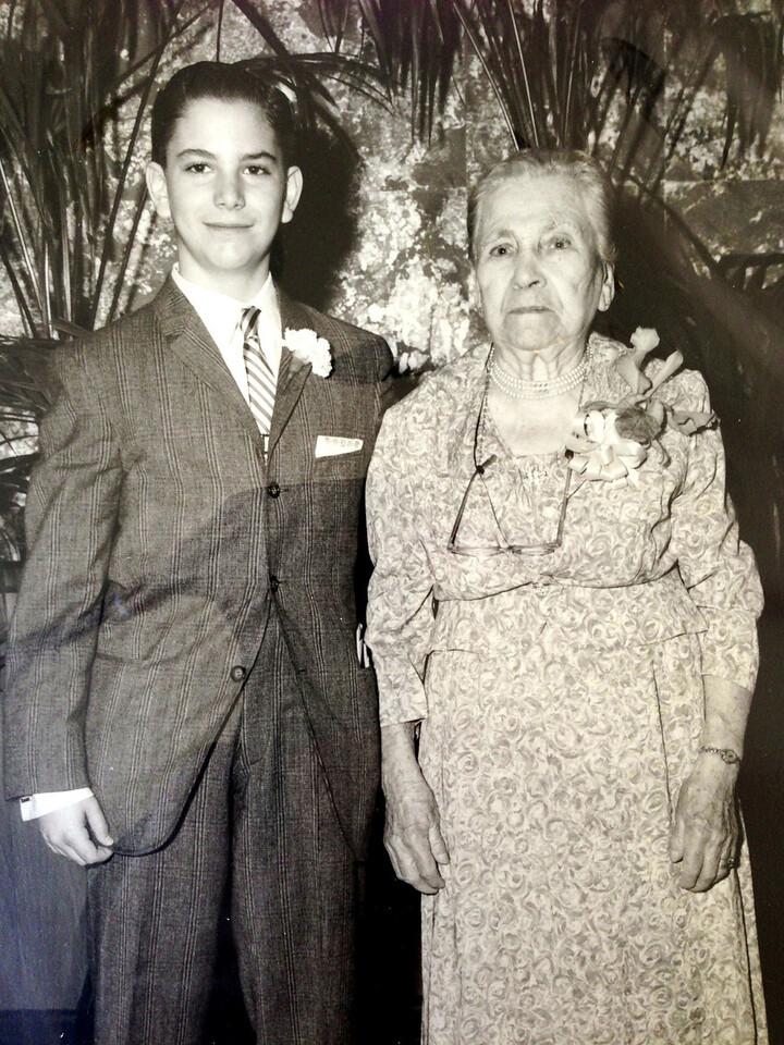David and Grandma Fanny Diskin, David's Bar Mitzvah
