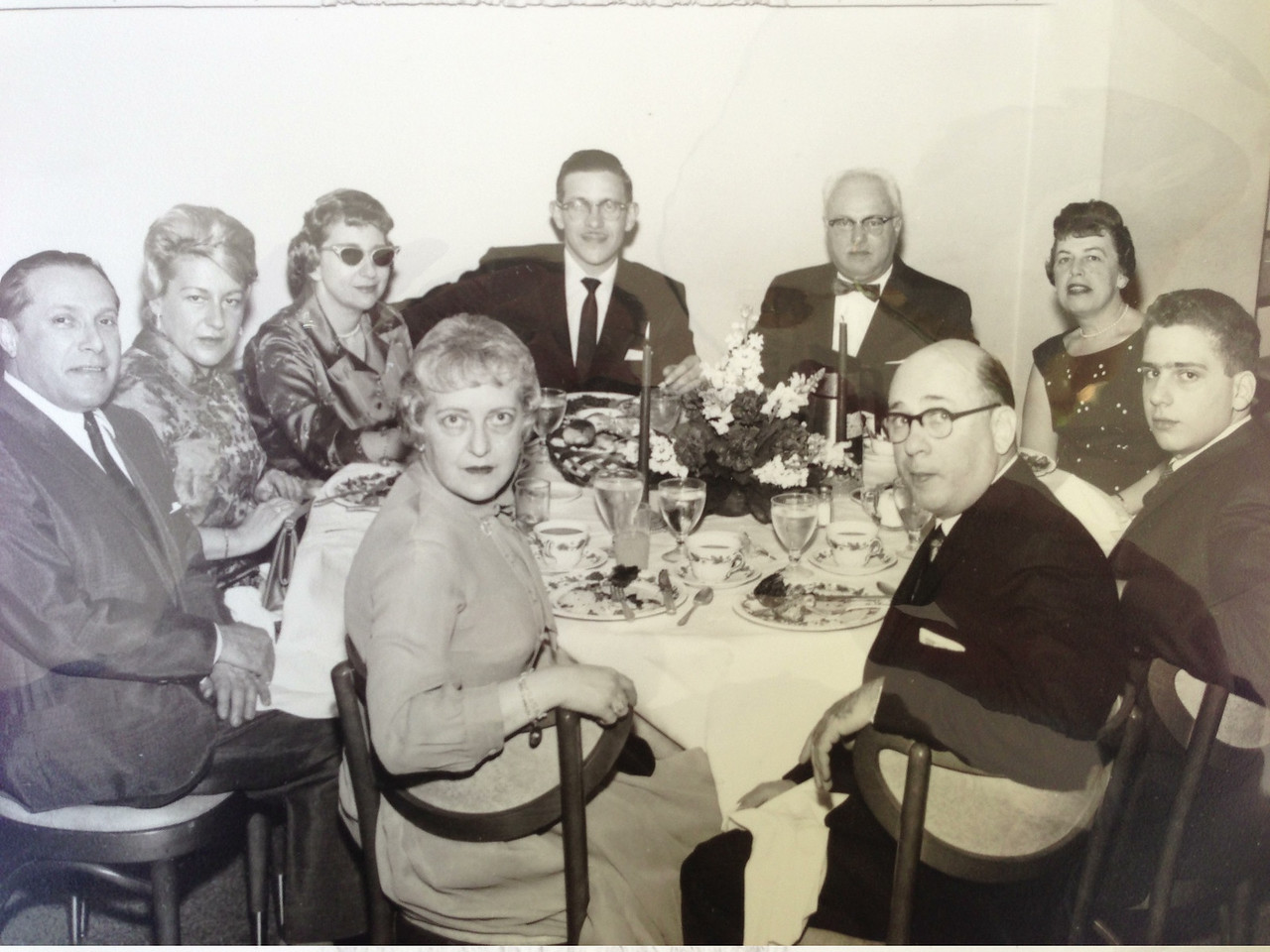 (start in lower left and go counter-clockwise) Aunt Marion (Leon's wife), Uncle Leon (Bob's oldest full brother,orthodontist), David Diskin(1st cousin), David's Bar Mitzvah