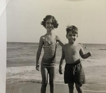 David and Sandy at the beach. Probably Hollywood Fla, near Miami.