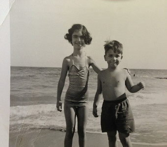 David and Sandy at the beach. Probably Hollywood Fla, near Miami.