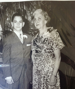 David and Grandma Lena Small, David's Bar Mitzvah