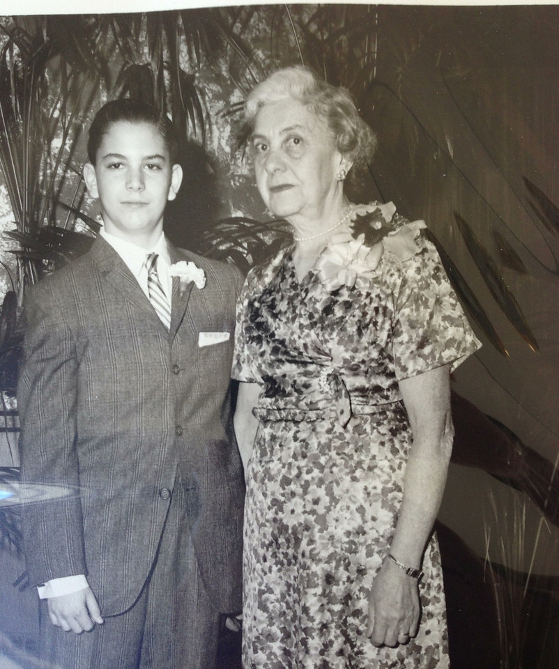 David and Grandma Lena Small, David's Bar Mitzvah
