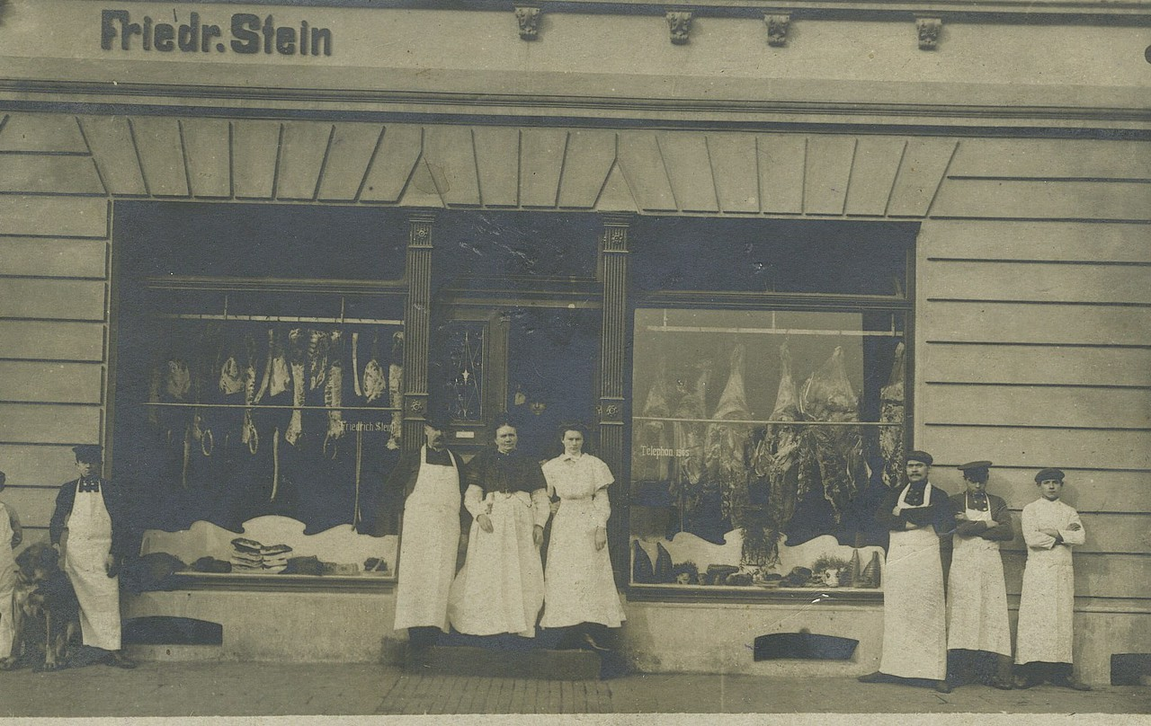 1908 Germany - Stein Butcher Shop Wanne-Eickle, Frederick, Julia,2