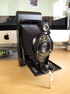 The actual camera used to take the 1924 frozen Willamette photo by Otto Camfield. Kodak Folding Brownie
