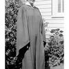 Norma Camfield. High School graduation 1950 (restored)