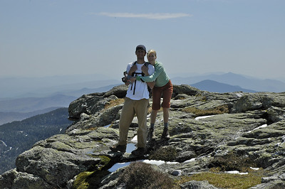 Zach and Kristen at the summit of Mt Mansfield.