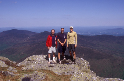 In another year, Duncan, Joshua, and I hiked this same route. To my right, you can make out the Chilcoot ski trail at Smugglers Notch, which is pictured in a couple of shots after this one.