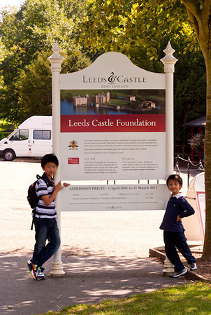 Family outing - Leed Castle - Sept 11
