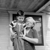 Gary and Grandma Emma, 1950, at the house in Bell