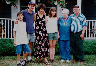 With grandma and grandpa Welle circa 1996