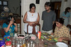 The day after Vini's b'day was also her b'day according to the Indian calendar and we cut a cake at home.