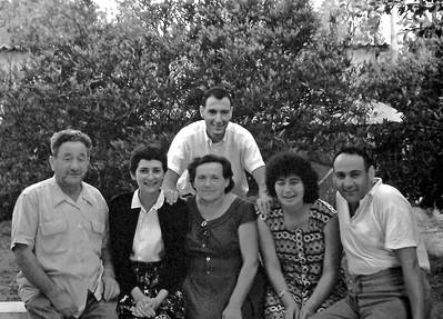 Naphtali, Zvi Knaigin, Marian; Zhava, Shula, and Yosef Knaigin. Kiryat Haim, May 1959