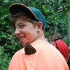This butterfly landed on Joshua's shoulder in the butterfly house.