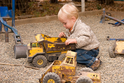 Trucks and Rocks, what more could a kid want?