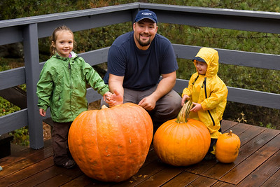 Daddy and the pumpkins