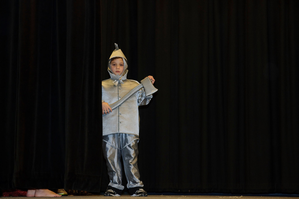 Daniel as the thin man (Wizard of Oz play)