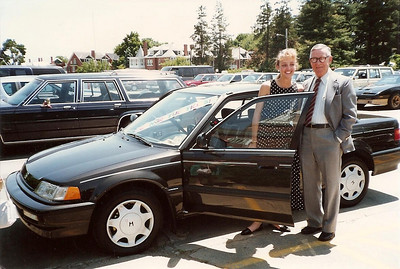 Caroline's Graduation from Hood College 5/90 - Her Granddaddy and Grandmother gave her this Honda - she was so surprised and delighted!