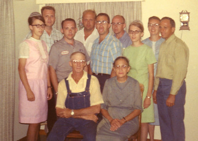 Andrew & Esther Beachy Family - Circa 1966 Martha, Levi, Abe, John, Daniel, Albert, Verna, Sovilla, Edward Andrew, Esther