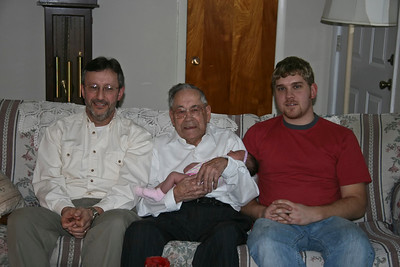 4 generations - Mike, Melvin, & Chad Lambright.  Grandpa is holding Chad's daughter.