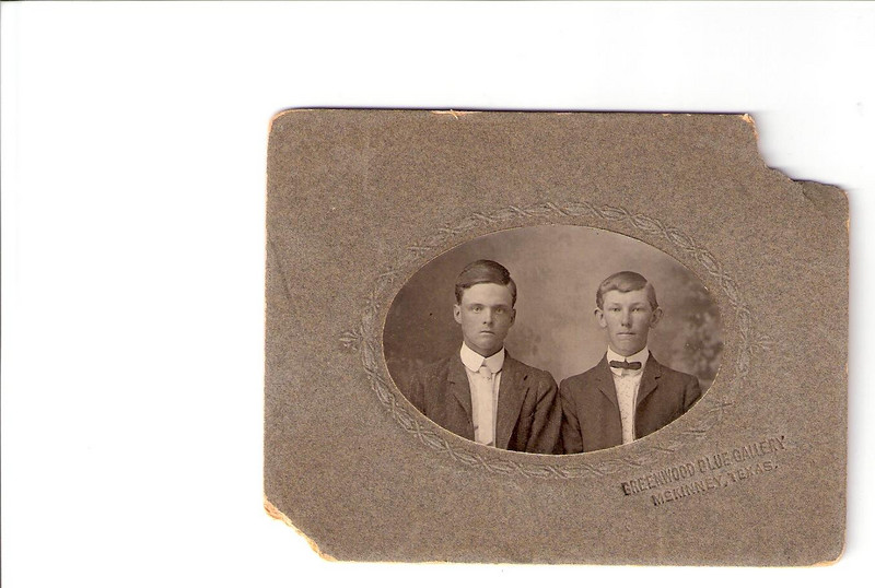 Luther Francis and brother (?), perhaps Claude Francis