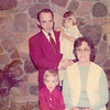 Abe holding Cindy, Branden and Zoann - circa 1975