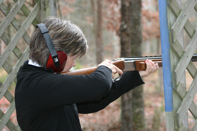 Skeet Shooting - my first time ever shooting a gun of any kind - it was fun, but couldn't believe how heavy it was!