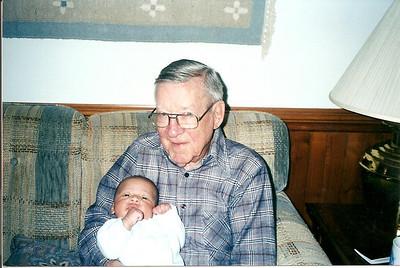 Edward Cerne IV with his Great-Granddaddy 4/02