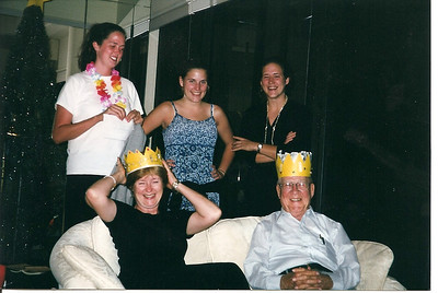 King and Queen of the Hawaii Vacation!  Catherine, Lauren and Anne wrote a cute appreciation salute to Mary Ann (the planner) and their Granddaddy(the payer).  It was a wonderful trip for the entire family.