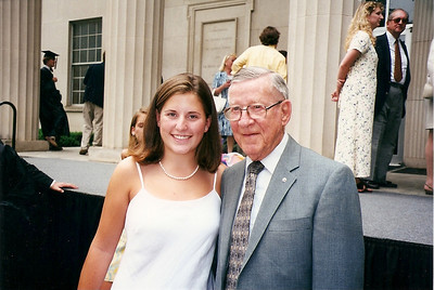 Lauren Flinn with her Granddaddy at her High School Graduation from Westminister School in Atlanta, Georgia