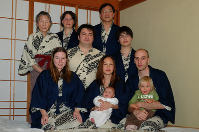 Here we are - the whole family.  This is the first time we have all been together for many years.