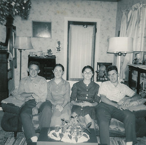 Abe Beachy, Zoann Lambright, Theda Lambright, Daniel Beachy - circa 1965