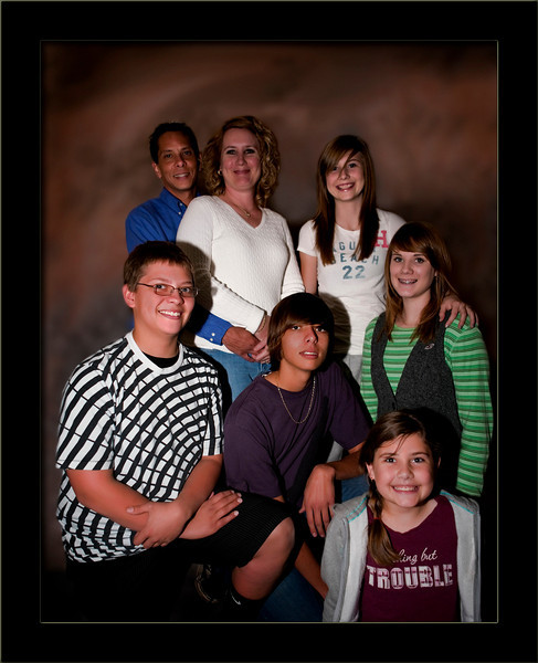 Brian, Heather, Katelin, Micah, Kyle, Charisma & Camille - one boy and one maid short of the Brady Bunch :)