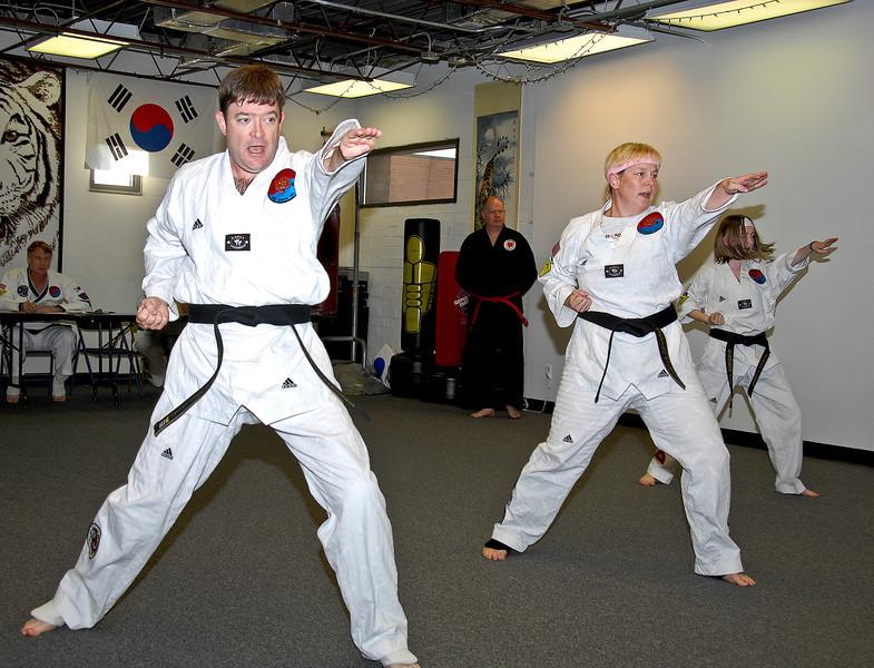 Taekwondo Family warming up