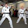 Taekwondo Family warming up