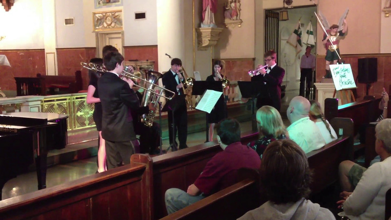 Brass Ensemble at French Quarter Fest - 2nd song