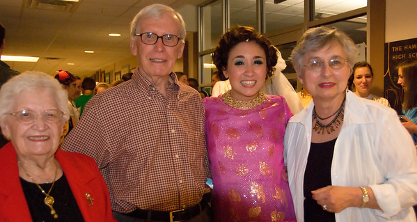 Grandpa Coelho, Grandma Coelho, Aunt Esther and Isabella after Anything Goes.