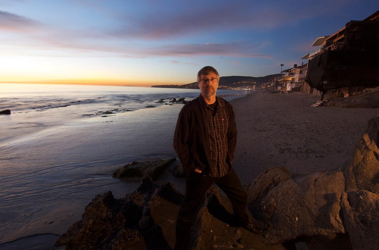Me enjoying another beautiful Laguna Beach sunset